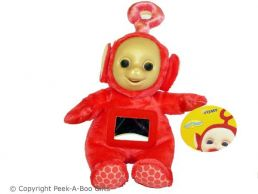 """Po 11"""" Red Teletubbies Activity Soft Toy by Tomy"""