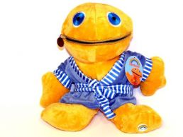 12'' Zippy in Blue Dressing Gown Rainbow Soft Toy