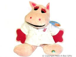 12'' George in White Towelling Dressing Gown Rainbow Soft Toy