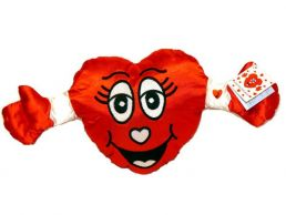 Valentines Satin Heart Talking Soft Toy with Arms