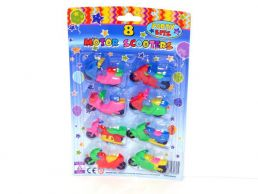 8 pack Mini Multi Coloured Scooters Party Favours/Prizes
