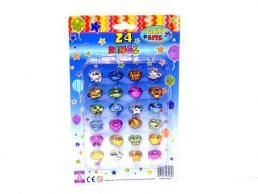 24 pack Party Favour Rings