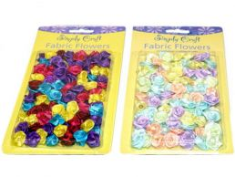 Small Craft Fabric Flowers 90's