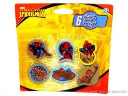 Character Erasers Marvel Spider-Man 6 pack Assorted Poses