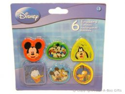 Character Erasers Disney Mickey Mouse & Friends 6 pack