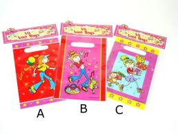 10 Pack Happy Birthday Loot Bag Girls 3 Assorted Girly Designs