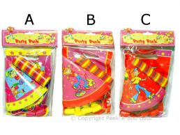 Children's Assorted Party Pack 5 Person Girls Design