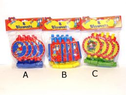8 pack Boys Happy Birthday Blowout Children's Party Favours