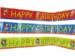 Happy Birthday Banner Boys 3 Assorted Sporty Designs