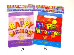 10 Pack Happy Birthday Loot Bag Children's Balloon & Starburst