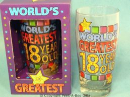 World's Greatest 18 Year Old Pint Beer Gift Glass Boxed