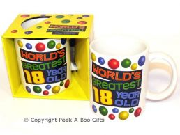 World's Greatest 18 Year Old Birthday 11floz Boxed Gift Mug