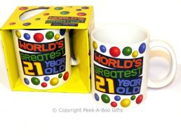 World's Greatest 21 Year Old Birthday 11floz Boxed Gift Mug