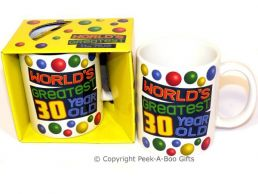World's Greatest 30 Year Old Birthday 11floz Boxed Gift Mug