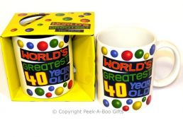 World's Greatest 40 Year Old Birthday 11floz Boxed Gift Mug