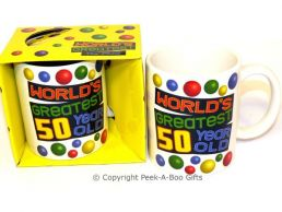 World's Greatest 50 Year Old Birthday 11floz Boxed Gift Mug
