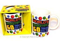 World's Greatest 60 Year Old Birthday 11floz Boxed Gift Mug