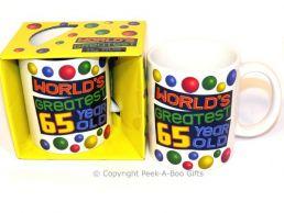 World's Greatest 65 Year Old Birthday 11floz Boxed Gift Mug