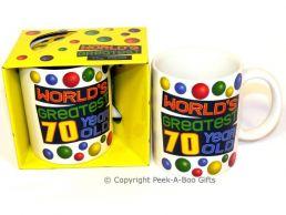 World's Greatest 70 Year Old Birthday 11floz Boxed Gift Mug