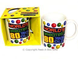 World's Greatest 80 Year Old Birthday 11floz Boxed Gift Mug
