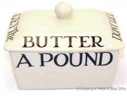 Emma Bridgewater Black Toast Oblong Butterdish with Lid