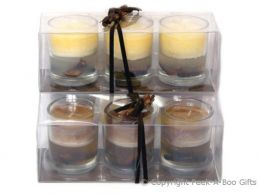 Cinnamon Spice Scented Candle 3's in Small Glass Pots