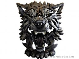 Edge Sculpture Wolf Bust