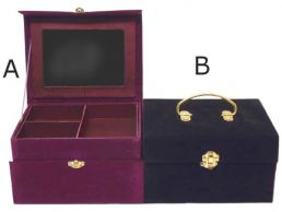 Jewellery Box Chest in Opulent Velvet