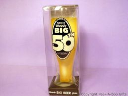 Bloody Big 50th Birthday Tall Beer/Lager Gift Glass
