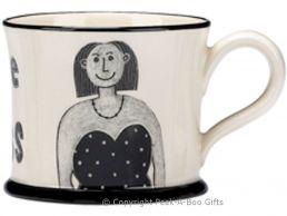 Moorland Pottery Geordie Ware Bonny Lass Mug