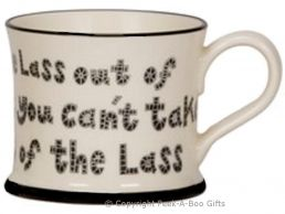 Moorland Pottery Geordie Ware Lass Out of Newcastle Mug