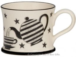 Moorland Pottery Geordie Put the Kettle On Pet with Stars Mug