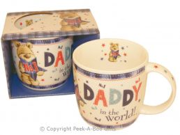 No1 Daddy in the World with Bear Fine Bone China Mug