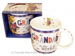 No1 Grandad in the World with Bear Fine Bone China Mug