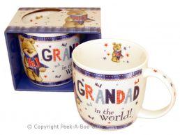 No1 Grandad in the World with Bear Fine Bone China Mug