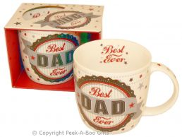 Best Dad Ever Fine Bone China Mug Rosette Design