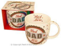 Best Dad Ever Fine Bone China Mug Rosette Design