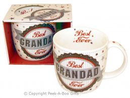 Best Grandad Ever Fine Bone China Mug Rosette Design