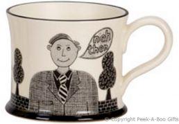 Moorland Pottery LancashireWare Th'owd Mon Mug