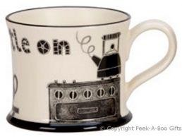 Moorland Pottery LancashireWare Purrin' t Kettle On Mug