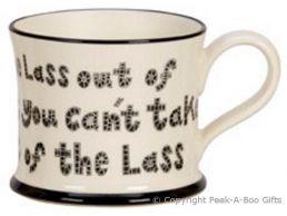 Moorland Pottery LancashireWare Lass Out of Lancashire Mug