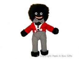 """Nostalgic Golly Soft Toy 12""""' Tall with Black & White Striped Pants"""