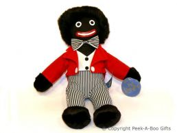 Nostalgic Golly Soft Toy 16.5'' Tall with Black & White Striped Pants