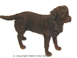 Standing Chocolate Labrador Medium Dog Figurine-Sculpture by Leonardo