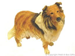 Standing Rough Collie Dog Figurine Medium by Leonardo