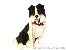 Sitting Border Collie Walkies 7'' Dog Figurine by Leonardo