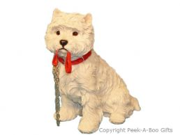 Sitting Westie-West Highland Terrier Walkies 7'' Figurine by Leonardo