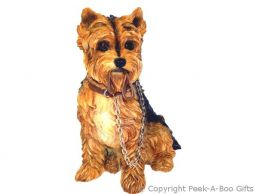 Sitting Yorkie-Yorkshire Terrier Walkies 7'' Figurine by Leonardo