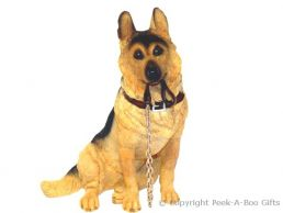 Sitting German Shepherd-Alsatian Walkies 7'' Dog Figurine