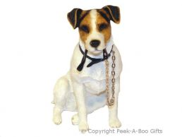 Sitting Jack Russell Terrier Walkies 7'' Dog Figurine by Leonardo